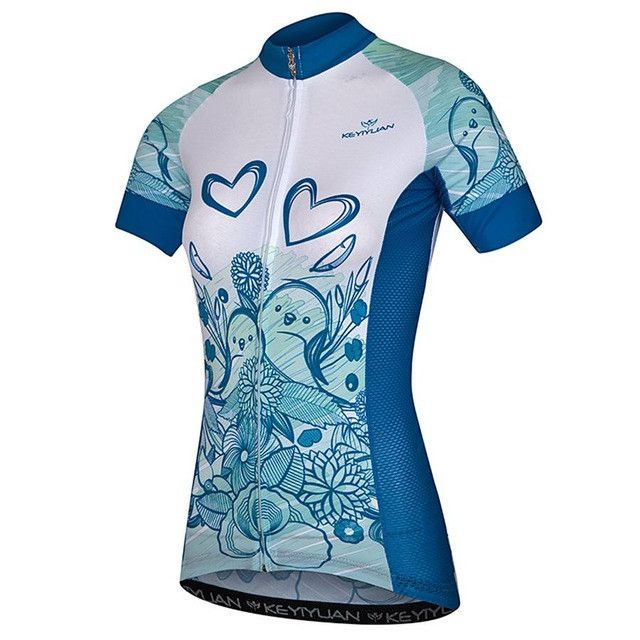 KEYIYUAN Women s Breathable Short Sleeve Summer Cycling Jersey  Sz S-5XL  (9 c9787d12f