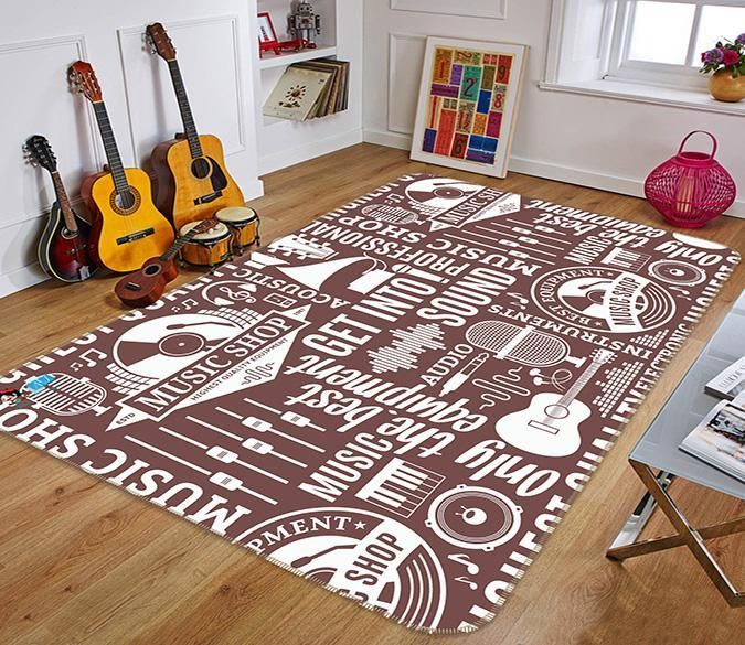 3d Musical Pattern 094 Non Slip Rug Mat Rugs Mat Rugs How To Clean Carpet