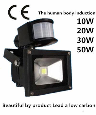 Датчики тела из светодиодов прожектор 10W20w30w50w100w AC85-265V напряжение водонепроницаемый открытый проход индукции из светодиодов прожекторы