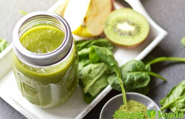 Green Smoothie mit Matcha und Zimt   vegane Rezepte in Drinks, Smoothies & Shakes