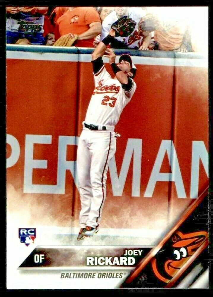 2016 Topps Update 105 Joey Rickard Orioles Mint From Pack