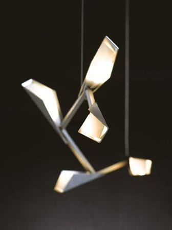 Quill Collection: The Quill collection of pendants mixes rectilinear and  planar geometry with branching structures and feather-like plumes. LED light  ...