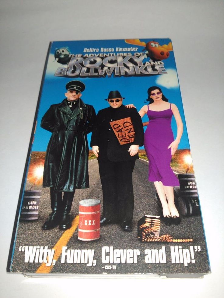 The Adventures of Rocky and Bullwinkle (VHS, 2001)Robert De Niro VCR Movie Tape