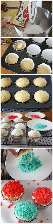 Popping Rock Candy Cupcakes #bettycrocker