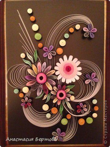 Pintar dibujo Paper Quilling Krivulka banda foto 5 mural