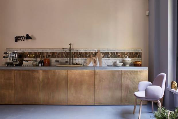 kupfer und messing f r wand und accessoires k chenfronten im kupfer look kupfer farben und. Black Bedroom Furniture Sets. Home Design Ideas