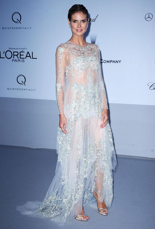Heidi Kulm- amFAR gala in CAnnesDe Cannes, Cannes 2012, Style, Gala, Dresses, Red Carpets, Heidi Klum, Marchesa, Heidiklum