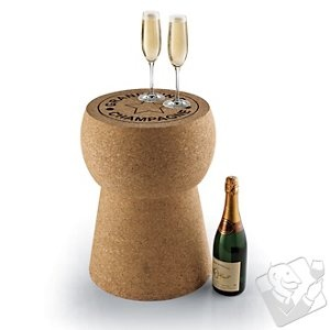 Giant Champagne Cork Stool/Table at Wine Enthusiast - $229.95