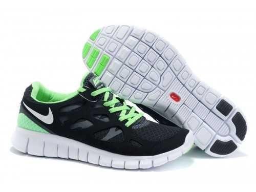 UK - Nike Free Run 2 Mens Black/Light Green/White