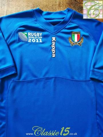 Official Kappa Italy home rugby shirt from the 2011 World Cup tournament. edaa903e6