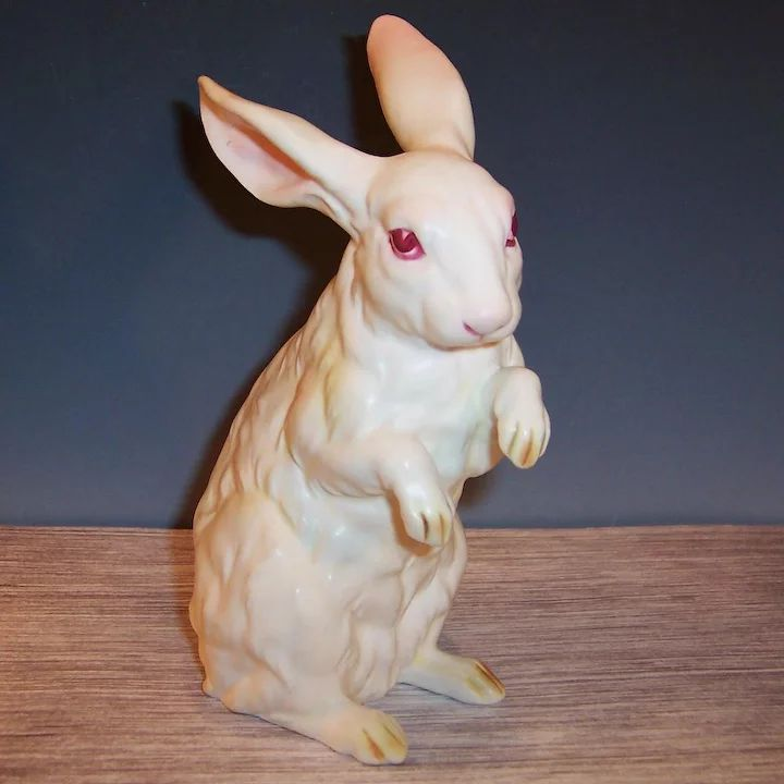 Excellent! LARGE: Lefton White Albino Bunny Rabbit (#H6660) for Easter, Spring, or a baby nursery