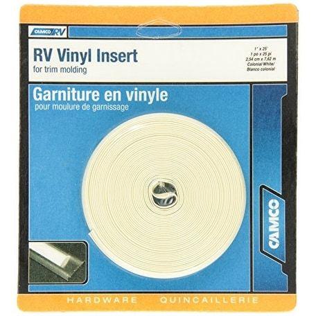 Camco 25123 Vinyl Trim Insert (1 x 25', Off-White (Beige)) - Off-White