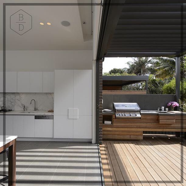 The house we created in Bondi for @theblock9 seamlessly connected the indoor and ourtdoor to create an entertainer's dream || #bondi #interiordesign #design #landscaping #outside #outdoors #indooroutdoor #alfresco #entertaining #diy #reno #theblock #joshandjenna #bickerdesign #style #styling #lifestyle #kitchen ||