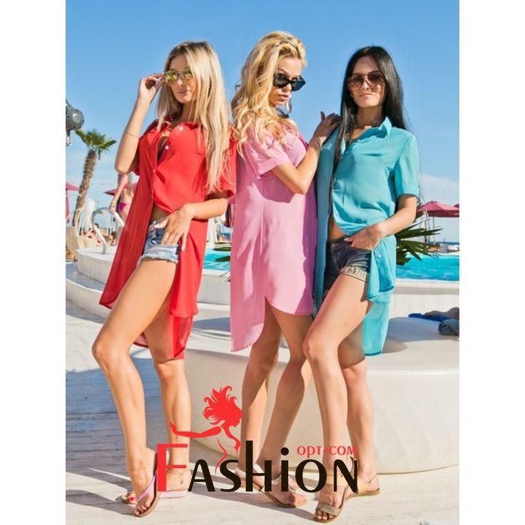 🎽5️⃣3️⃣9️⃣руб🎽 Прозрачное платье-туника с воротником 7005 Размер: S; M Производитель: FIRST WOMAN Ткань: Шифон Цвета: желтый, коралловый, морской волны, розовый, голубой, красный.