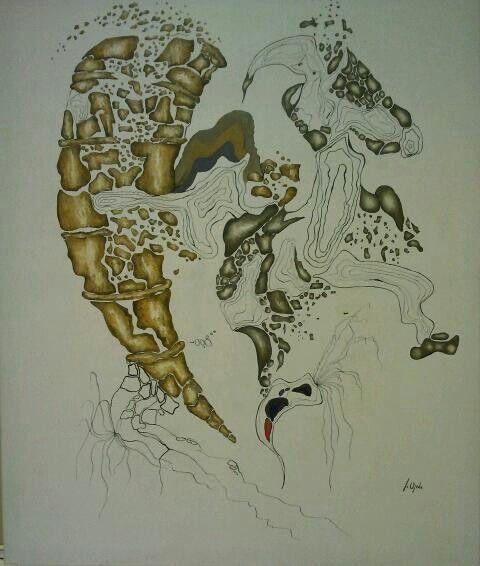 By Jesús Ojeda. Cornucopia. (120x100cm). Year 2013.