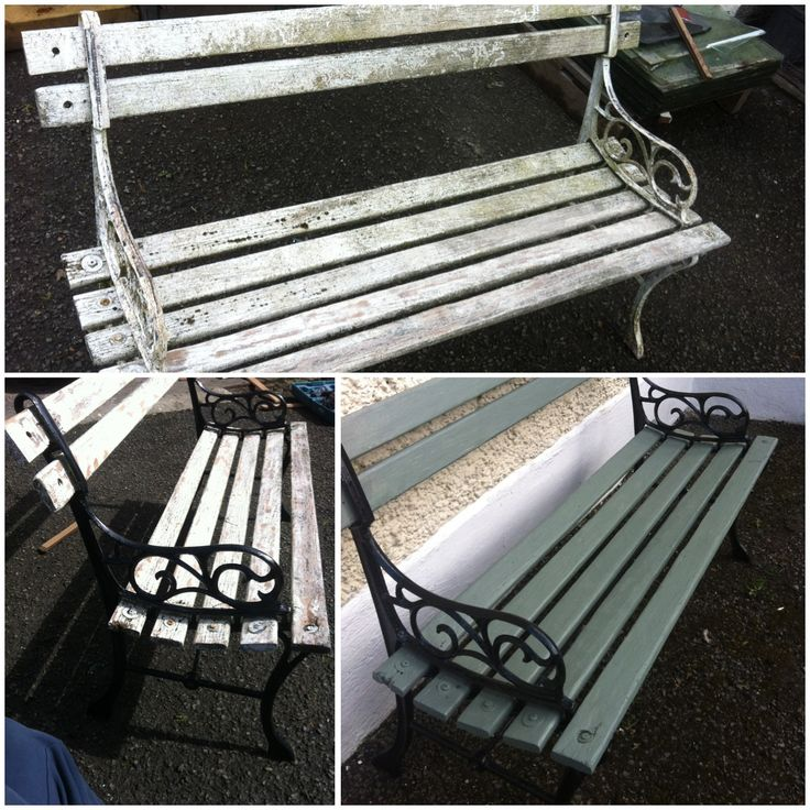 Old Garden Bench Painted In Ronseal Garden Furniture Paint  Part 91
