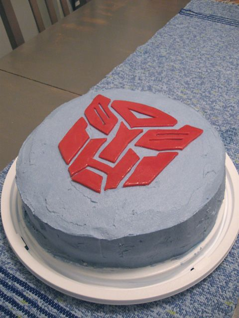 Transformers cake, Autobot cake, husband's birthday cake