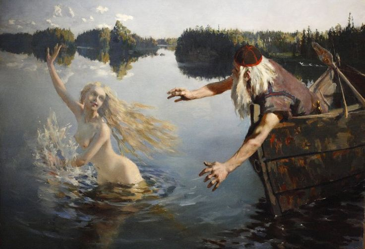 Aino Myth, Triptych, second panel Akseli Gallen-Kallela (1865–1931)