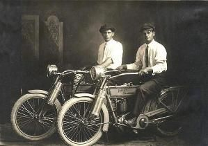 William Harley and Arthur Davidson, 1914 by cathy