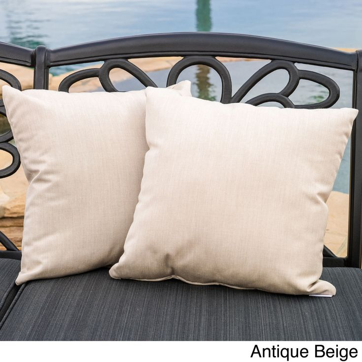 christopher knight home canvas 17inch sunbrella outdoor pillows set of 2 - Sunbrella Pillows