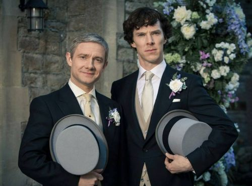 """The Sign of Three, airs tonight in the UK. The eagerly awaited episode will cast Sherlock Holmes in the unfamiliar role of best man at the wedding of John Watson and Mary Morstan. """"Sherlock must thank the bridesmaids, solve the case and stop a killer!"""" SO EXCITED."""