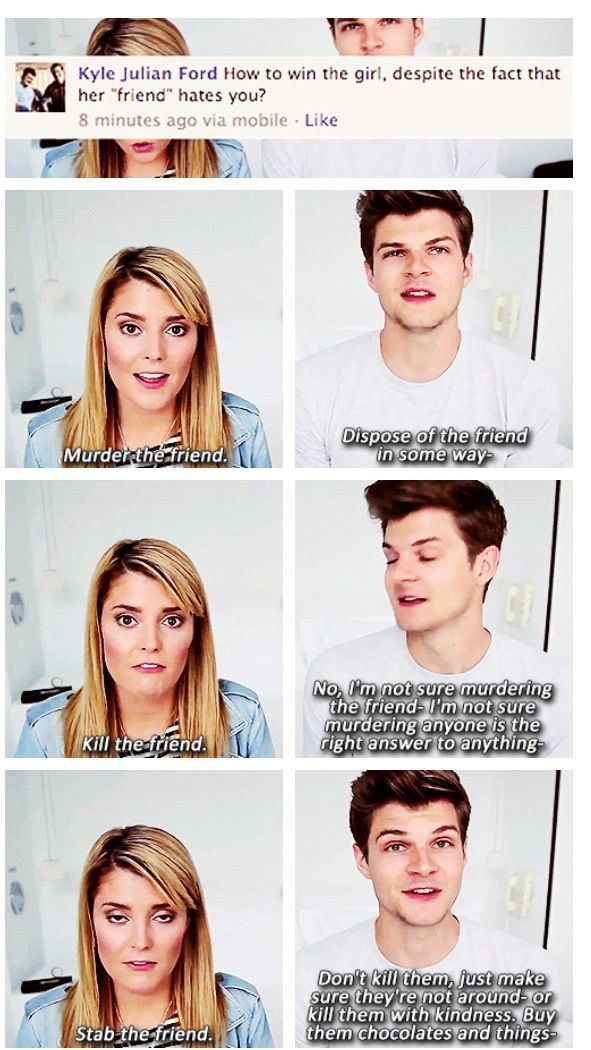 Advice form Jim Chapman and Grace Helbig...he went one direction, she went another.