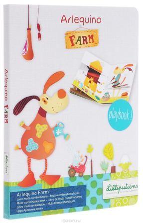 """Lilliputiens Книжка-игрушка Ферма Арлекина  — 970р. ------------ Книжка-игрушка Lilliputiens """"Ферма Арлекина"""" основана на принципе игры последовательностей. Создавайте новых персонажей и новые ситуации на ферме на каждой новой странице книги. Экспериментируйте и наслаждайтесь! Рекомендуется детям от трех лет."""
