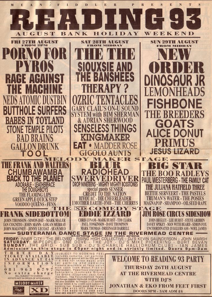 Find out who played Reading Festival 1993 and relive it through our photos and videos.