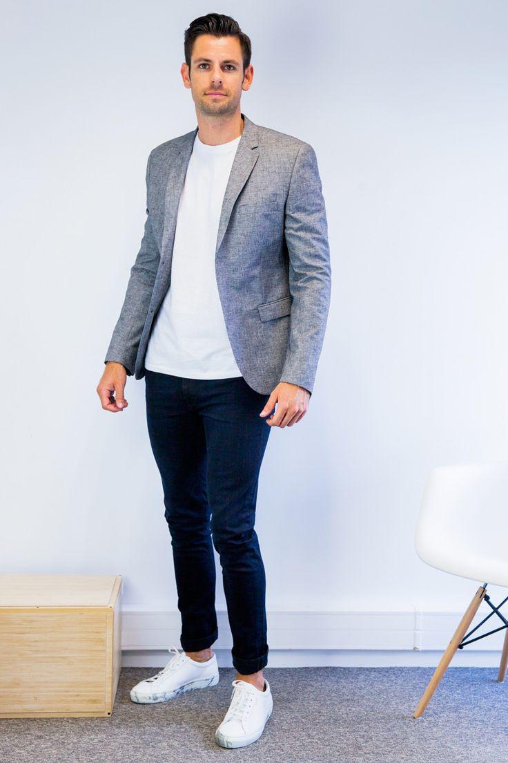 blazer gris jean