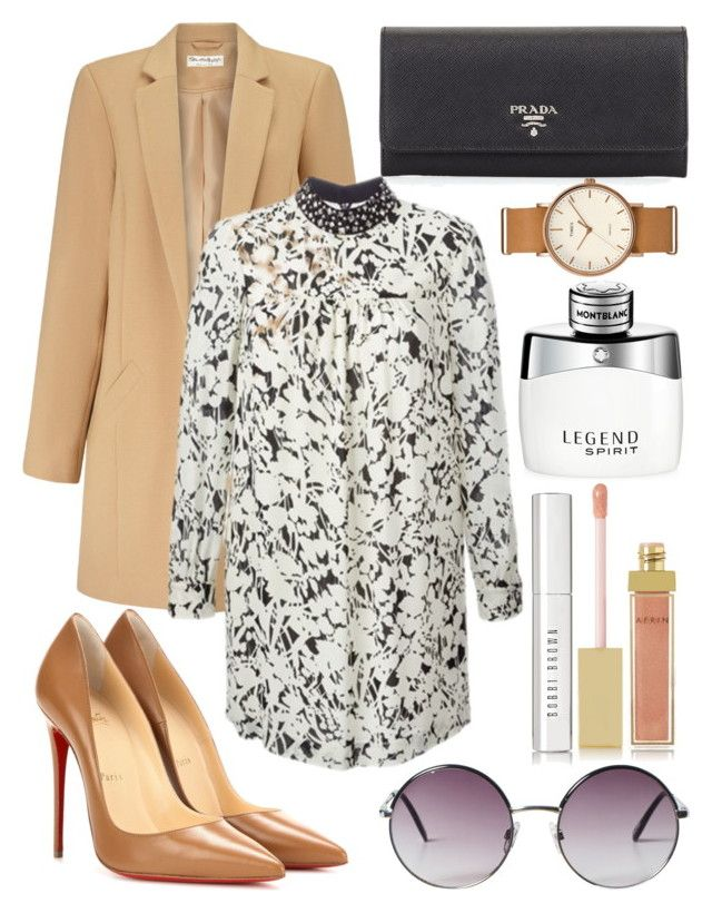 """""""fem! harry styles"""" by larryisrealforever ❤ liked on Polyvore featuring Miss Selfridge, Yves Saint Laurent, Christian Louboutin, Prada, Monki, AERIN, Bobbi Brown Cosmetics, Montblanc and Timex"""