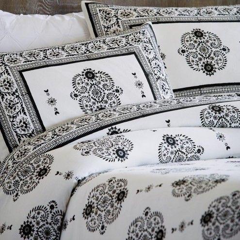 Paisley Block Print Duvet & Shams Bedding Set   VivaTerra