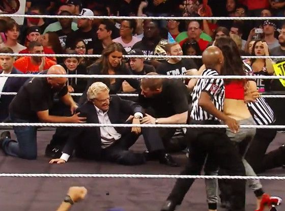 Jerry Springer Carried Out in a Stretcher After Bella Twins Feud Goes Horribly Wrong—See the WWE Raw Clip!  Jerry Springer, WWE