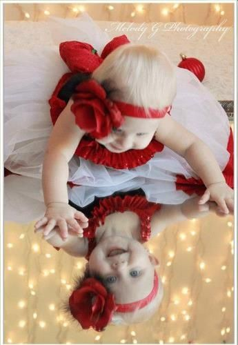 Baby Christmas photo. Would be cute idea, boy or girl