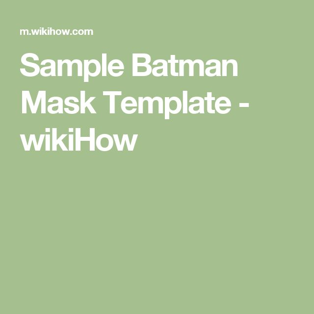 25+ unique Batman mask template ideas on Pinterest Batman mask - face masks templates