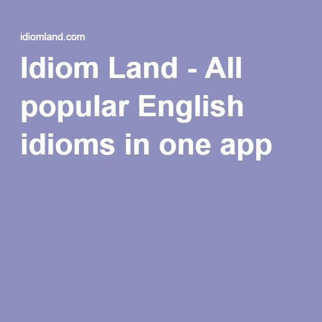 All Popular English Idioms In One App