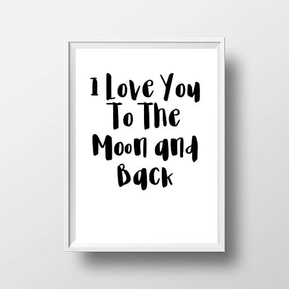 SALE I Love you To The Moon and Back Wall by LittleLovesPrintShop