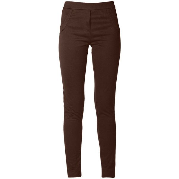 RAXEVSKY Marcia Brown Leggings ($42) ❤ liked on Polyvore