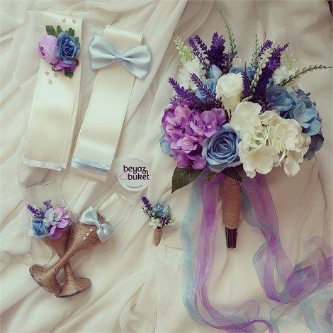 Mavi Mor Ortancalı Gelin Seti    Gelin çiçeğiniz ve çiçeğinize uyumlu takı kurdelesi ve kadehler  Telefonla Sipariş Favorilere Ekle  İstek Listeme Ekle Fiyat Düşünce Haber Ver