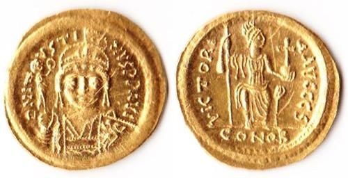 Justinian II 565-578 AD Gold solidus