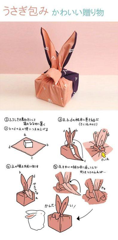 Furoshiki lapin pour Pâques