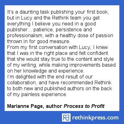 Marianne Page, author Process To Profit http://rethinkpress.com/books/process-to-profit/