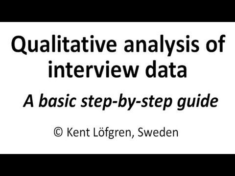 Qualitative analysis of interview data: A step-by-step