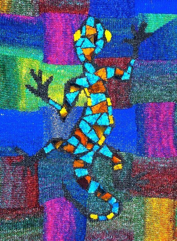 """Купить Платье -джемпер """"Саламандра Гауди"""" - рисунок, Анна Лесникова, трикотаж от кутюр, джемпер женский"""