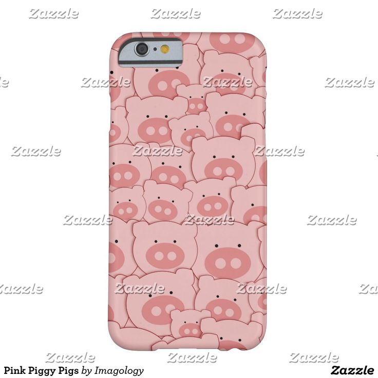 Pink Piggy Pigs Barely There iPhone 6 Case