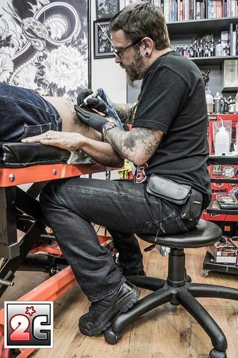 Derek Baker - Metal Machine tattoo studio, South Africa