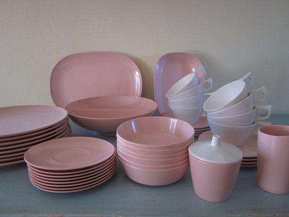 Texas Ware Pink Melmac Dish Set By VandyCakes On Etsy, $125.00