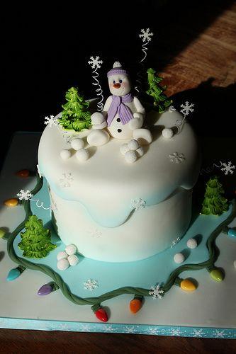 Love this cute snowman cake