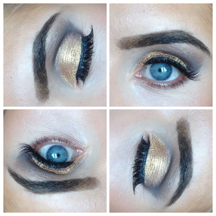Gold cut crease smokey eye