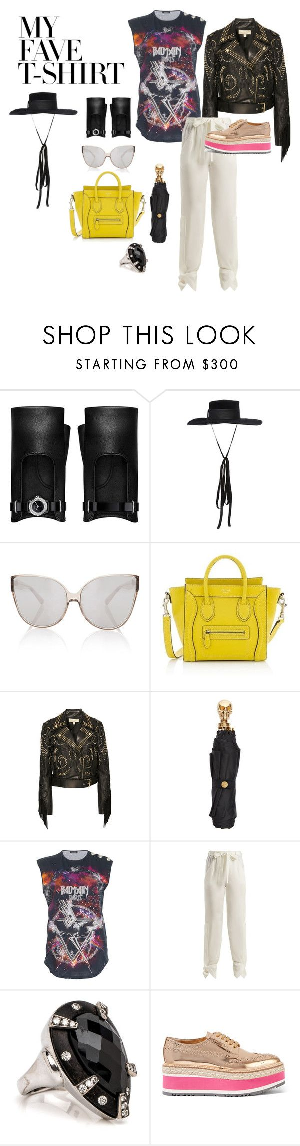 """Untitled #359"" by ilich-moreno ❤ liked on Polyvore featuring Chanel, Elie Saab, Linda Farrow, CÉLINE, Alexander McQueen, Balmain, Roland Mouret, Prada and MyFaveTshirt"