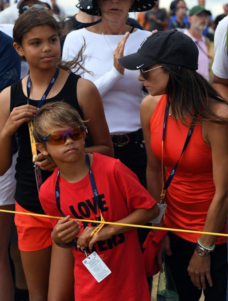 ad6376027 Tiger Woods' girlfriend Erica Herman cheers him on with his children Sam  and Charlie on final day of Open - Text back link exchanges